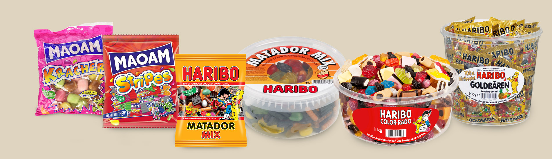 Haribo and Maoam – the famous gummy bears and liquorice