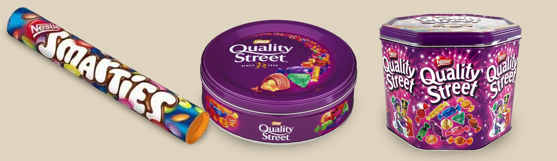 Quality Street and Smarties – Nestlé's famous brands